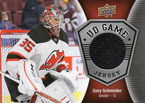 2016-17 Upper Deck Series 1 Hockey UD Game Jersey Cory Schneider