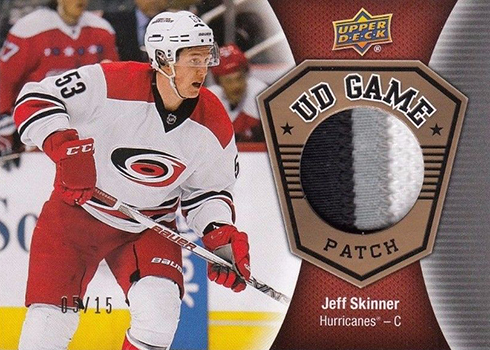 2016-17 Upper Deck Series 1 Hockey UD Game Patch Jeff Skinner