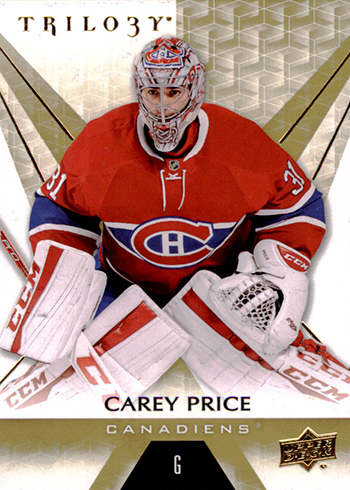 2016-17 Upper Deck Trilogy Hockey Base Carey Price