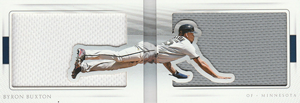 2016 National Treasures Baseball All Out Jersey Booklet Byron Buxton