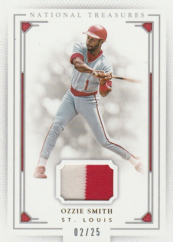 2016 National Treasures Baseball Base Prime Ozzie Smith