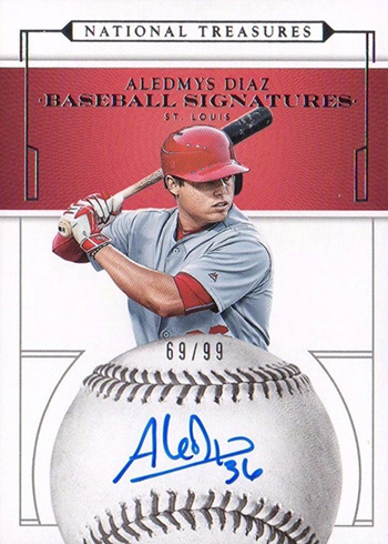 2016 National Treasures Baseball Baseball Signatures Aledmys Diaz