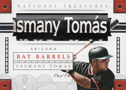 2016 National Treasures Baseball Bat Barrel