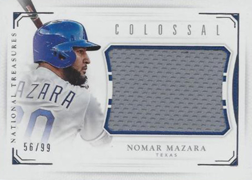 2016 National Treasures Baseball Colossal Nomar Mazara