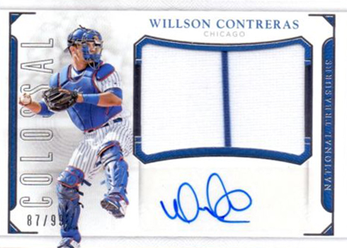 2016 National Treasures Baseball Colossal Signatures Willson Contreras