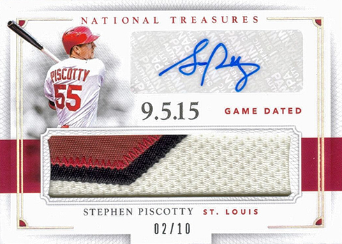 2016 National Treasures Baseball Game Dated Jersey Number Signatures