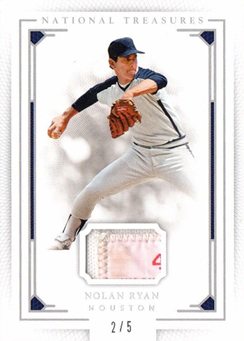 2016 National Treasures Baseball Laundry Tag Nolan Ryan