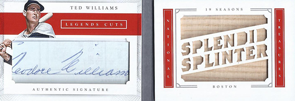 2016 National Treasures Baseball Legends Cut Materials Bat Ted Williams