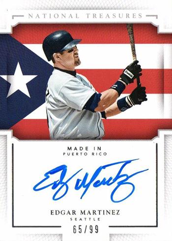 2016 National Treasures Baseball Made In Edgar Martinez Autograph