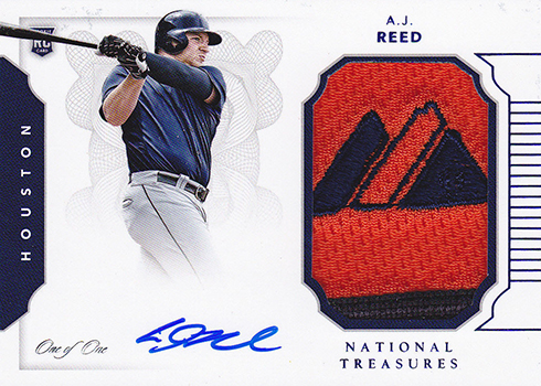 2016 National Treasures Baseball Rookie Materials Blue AJ Reed
