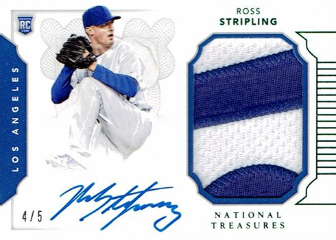 2016 National Treasures Baseball Rookie Materials Green