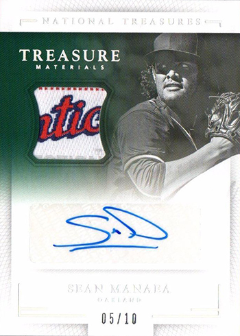 2016 National Treasures Baseball Treasure Signature Materials Laundry Tag