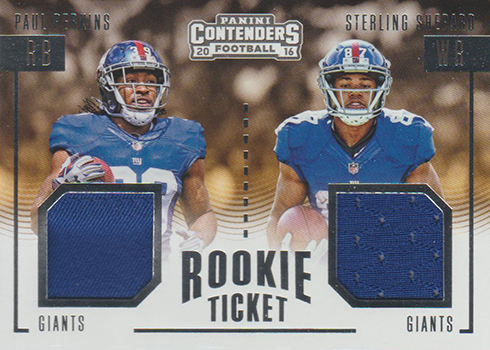 2016 Panini Contenders Football Rookie Ticket Dual Jersey