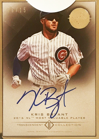 2016 Topps 65th Anniversary Party Kris Bryant Autograph MVP