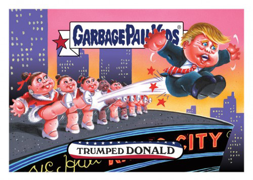 2016 Topps Garbage Pail Kids Dis-grace to the White House 122 Trumped Donald
