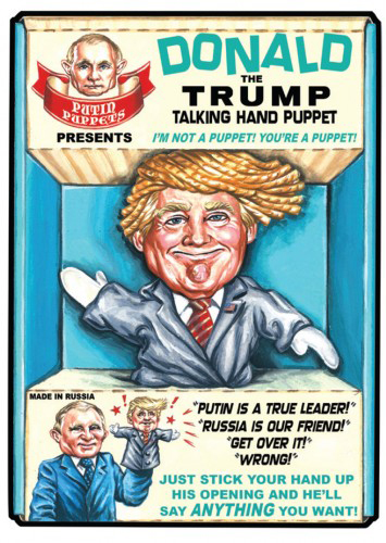 2016 Topps Garbage Pail Kids Dis-grace to the White House 125 Donald the Trump Talking Hand Puppet