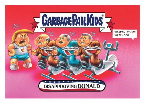 2016 Topps Garbage Pail Kids Dis-grace to the White House 126 Disapproving Donald