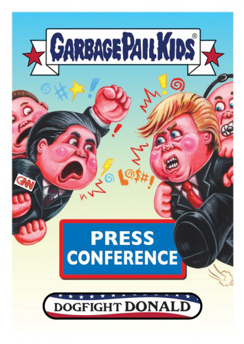 2016 Topps Garbage Pail Kids Dis-grace to the White House 143 Dogfight Donald