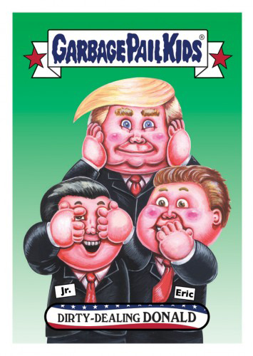 2016 Topps Garbage Pail Kids Dis-grace to the White House 147 Dirty-Dealing Donald