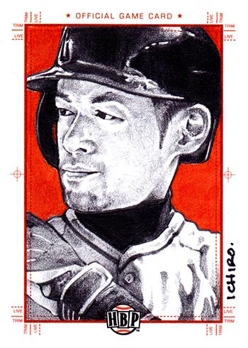 2017 Honus Bonus Baseball Sketch Card Ichiro