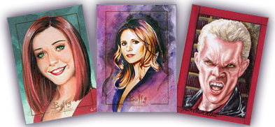 2017 Rittenhouse Buffy the Vampire Slayer Ultimate Collectors Set Series 2 Sketch Cards