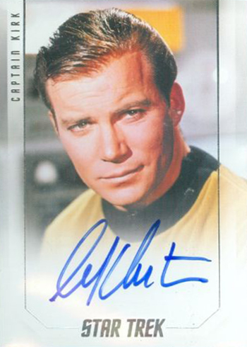 2017 Rittenhouse Star Trek 50th Anniversary Captains Autographs William Shatner