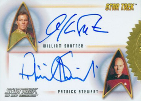 2017 Rittenhouse Star Trek 50th Anniversary Dual Autograph William Shatner Patrick Stewart
