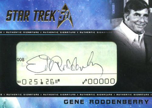 2017 Rittenhouse Star Trek 50th Anniversary Gene Roddenberry Cut