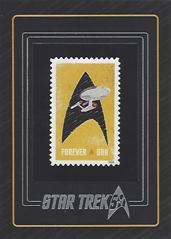 2017 Rittenhouse Star Trek 50th Anniversary Stamp