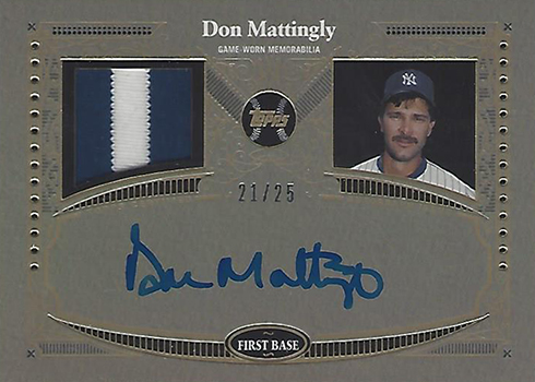 2017 Topps Autograph Patch Reverence Don Mattingly