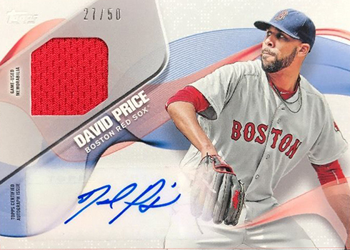 2017 Topps Baseball Memorable Materials Autographs David Price