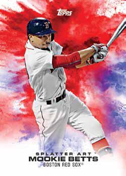 2017 Topps Bunt Baseball Splatter Art