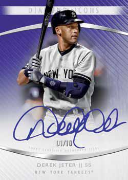 2017 Topps Diamond Icons Baseball Autographs Purple Jeter