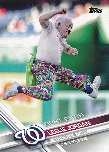 2017 Topps First Pitch 10 Leslie Jordan