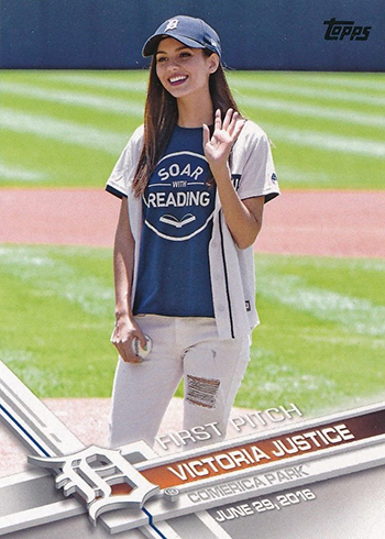 2017 Topps First Pitch 15 Victoria Justice