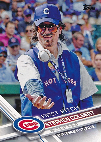 2017 Topps First Pitch 22 Stephen Colbert