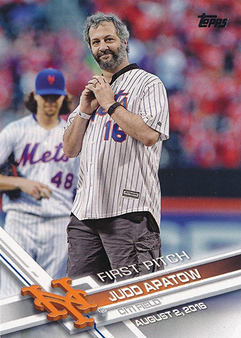 2017 Topps First Pitch 3 Judd Apatow