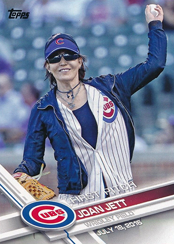 2017 Topps First Pitch 8 Joan Jett