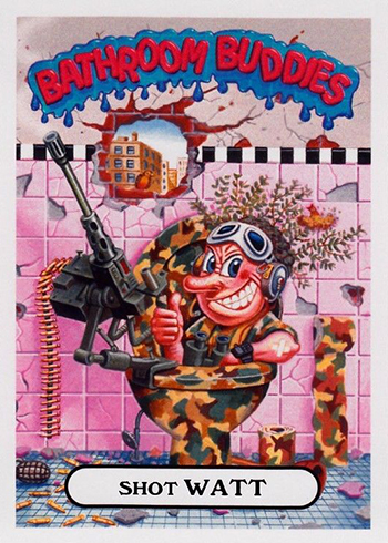 2017 Topps Garbage Pail Kids Adam-geddon Bathroom Buddies