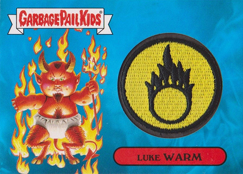 2017 Topps Garbage Pail Kids Adam-geddon Patch Card