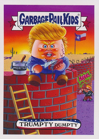 2017 Topps Garbage Pail Kids Adam-geddon Presidential Election