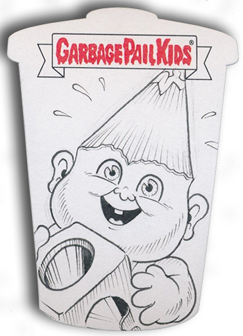 2017 Topps Garbage Pail Kids Adam-geddon Shaped Sketch