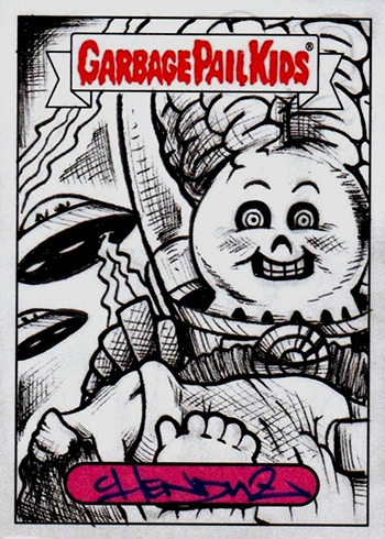 2017 Topps Garbage Pail Kids Adam-geddon Sketch Card