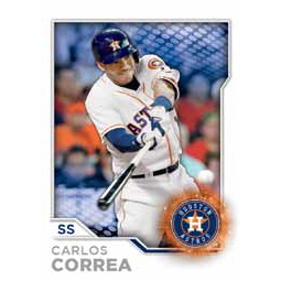 2017 Topps MLB Sticker Collection Carlos Correa 276