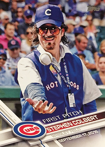 2017 Topps Series 1 Baseball Checklist First Pitch Stephen Colbert