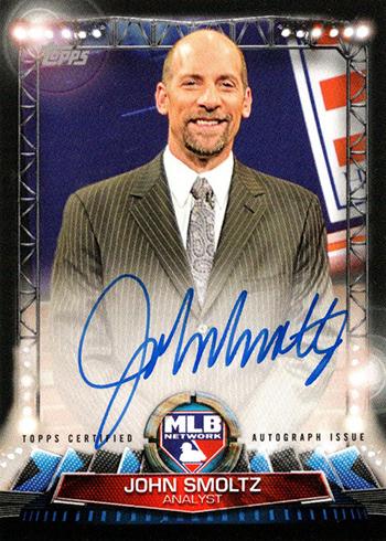2017 Topps Series 1 Baseball MLB Network Autographs John Smoltz