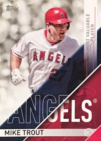 2017 Topps Series 1 Checklist Award Winners Mike Trout