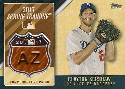 2017 Topps Series 1 Checklist Spring Training Patch Clayton Kershaw