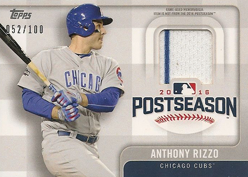 2017 Topps Series 1 Postseason Relic Anthony Rizzo