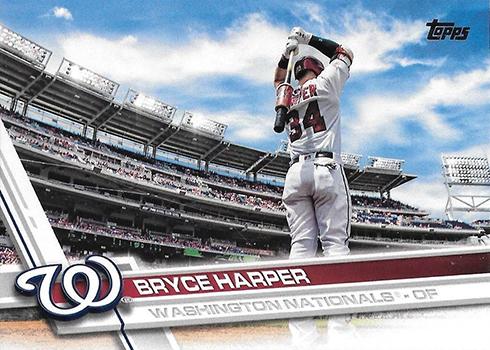 2017 Topps Series 1 Variations 34 Bryce Harper